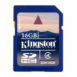 Kingston 16GB SDHC (High Capacity) Klasse 4