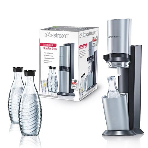 SodaStream SodaSteam Crystal Pack titan silber Wassersprudler