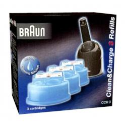 Braun CCR 3 Reinigungskartuschen für alle Braunreinigungsstationen CCR