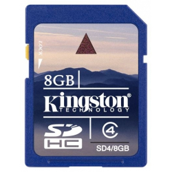 Kingston 8GB SDHC (High Capacity) Klasse 4 Speicherkarte