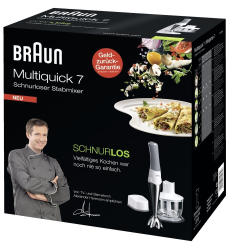 braun multiquick 7 mr 730cm schnurloser stabmixer. Black Bedroom Furniture Sets. Home Design Ideas